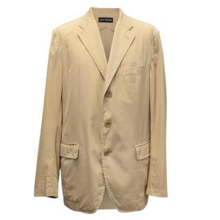 Issey Miyake Camel Lightweight Cotton Jacket