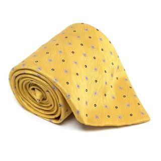 Brioni Yellow Patterend Silk Tie