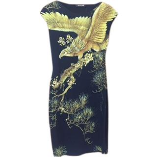 Roberto Cavalli Dress Black & Yellow