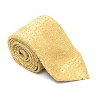 Ziilli Yellow Patterend Silk Tie