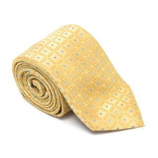 Ziilli Yellow Patterend Silk Tie