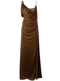 Emilio Pucci Drape Gown Maxi Dress with Slit