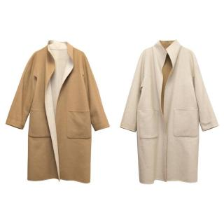 MaxMara Tan And Beige Reversible Coat
