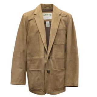 Orvis Camel Suede Blazer Jacket