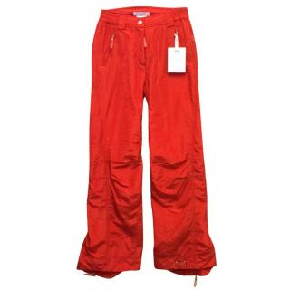Christian Dior Red Ski Trousers