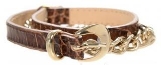 Philosophy Alberta Ferretti Calf Leather Chain & Snake Effect Belt