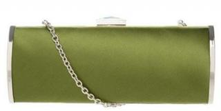 Philosophy Alberta Ferretti Olive Clutch Bag with Chain