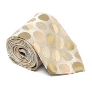 Valentino Beige Spotted Tie