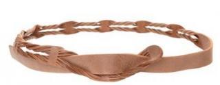 Philosophy Alberta Ferretti Leather Double Layered Twist Skinny Belt