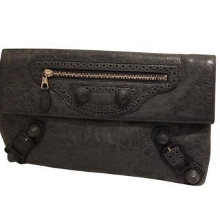 Balenciaga clutch bag in grey leather