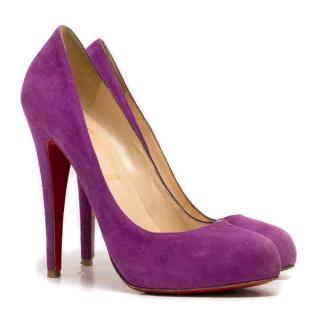 Christian Louboutin Dorissima Purple Suede Pumps