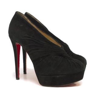 Christian Louboutin Suede Black Booties