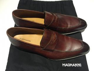 Magnanni loafer brown leather handmade in spain
