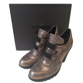 Hogan by Karl Lagerfeld silver boots