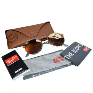 Ray Ban gold metal sunglasses NEW