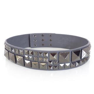 BCBG Max Azria Grey Studded Large / Wide Belt