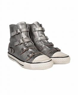 ASH Silver Buckle High top Trainers/Sneakers