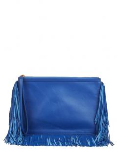Pierre Hardly Blue Fringed leather clutch