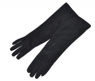 Ralph Lauren Collection black suede gloves