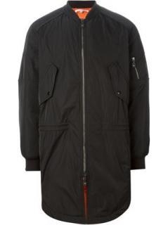 Carven men's long bomber jacket