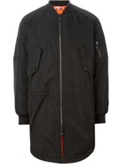 Carven men's long bomber jacket