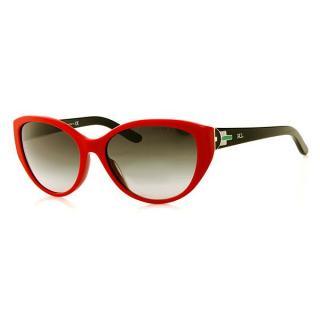 Ralph Lauren 8098 Black & Red Art-Deco Cat Eye Sunglasses