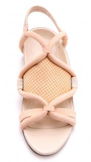 3.1 Phillip Lim Peach-Oyster Pink Marquise Flat Sandals UK 5.5/38.5