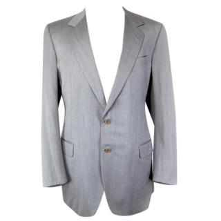 Brioni gray 2 Button blazer, wool 56L