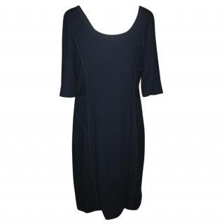 Amanda Wakeley Navy Blue Cotton Blend Dress