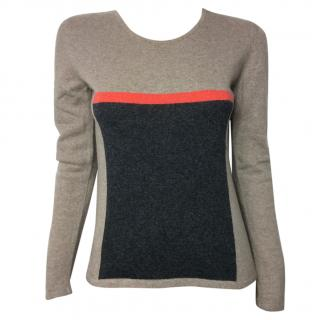 Natan colorblock round neck sweater