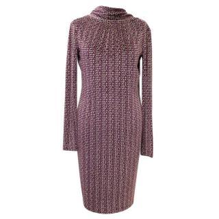 FISICO Christina Ferrari Pink Metallic 3/4 Sleeve Dress