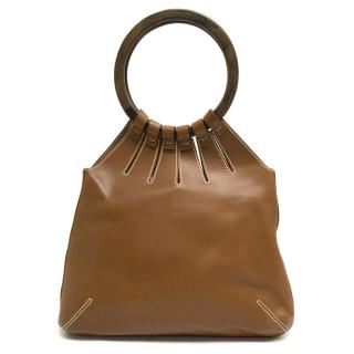 Sergio Rossi Brown Leather Bag With Round Handle