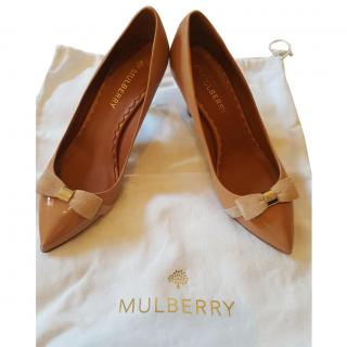 Mulberry Bow Mid Heel Pump