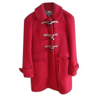 Mulberry Red Wool Duffle Coat
