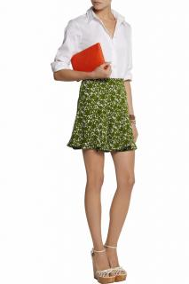 Michael Kors Collection Printed fluted silk-crepe shorts