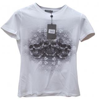 Alexander McQueen Short Sleeve Skull Design T-Shirt