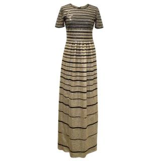 Alice by Temperley Gold And Black Sequinned Dress
