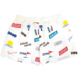 Sandro White Shorts With Beach Print
