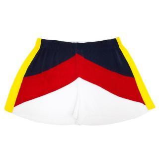 Sandro White Print Pleated Shorts