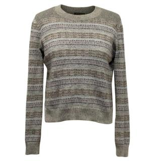 Theory Grey Lightweight Round Neck Jumper
