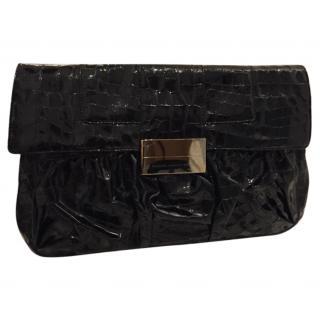Giuseppe zanotti patent leather clutch bag
