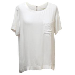 Rag & Bone White Short Sleeved T-Shirt Blouse
