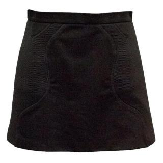 Neil Barrett Black Mesh Mini Skirt