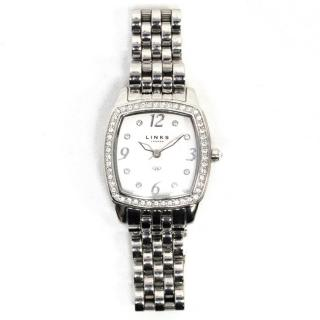 Links Of London Silver Stainless Steel And Crystal Watch
