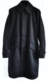 Ralph Lauren Black Label Lambskin-Trim Coat
