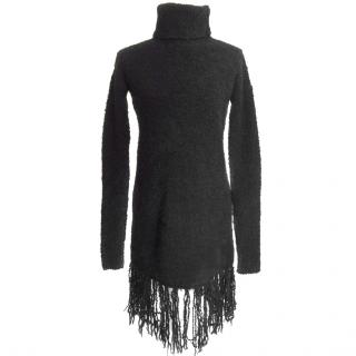 ZADIG & VOLTAIRE Knit Black Merino Wool and Mohair Dress