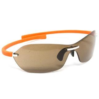 Tag Heuer 'TAG5107' Black Rimless Curve Sunglasses