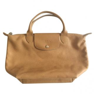 Longchamp grained leather tote shopper bag