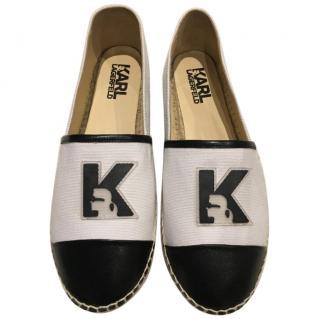 Karl Lagerfeld White Espadrilles