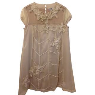 Moschino cheap and chic cream silk dress